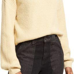 Rib Crop Crewneck Sweater | Nordstrom