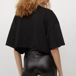 Bike shorts in soft faux leather with an elasticized waistband.   H&M (US)