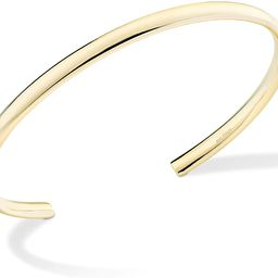 Miabella 925 Sterling Silver Italian Adjustable 4mm Open Cuff Polished Bangle Bracelet for Women 7.2   Amazon (US)