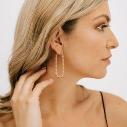 Fresh Twist Hoop Earrings - Gold   THELIFESTYLEDCO