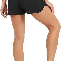 "Amazon.com: Stelle Women's 3"" Running Shorts Gym Athletic Quick-Dry Shorts with Pockets (Black,M)... | Amazon (US)"