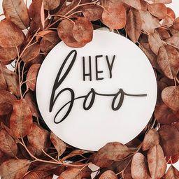 Hey Boo Sign, Halloween Decor, Fall Decor, Door Hanger, Door Sign, Wreath Signs   Etsy (US)