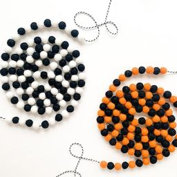 Halloween Multi Colored Mini Felt Ball Garlands - Bunting, Banner   Etsy (US)