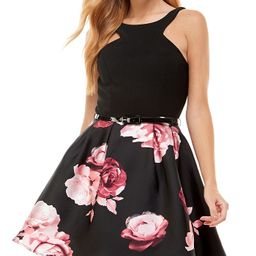 Crystal Doll Juniors' Printed-Skirt Halter Dress & Reviews - Dresses - Juniors - Macy's | Macys (US)