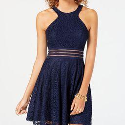 City Studios Juniors' Lace Fit & Flare Dress & Reviews - Dresses - Juniors - Macy's | Macys (US)