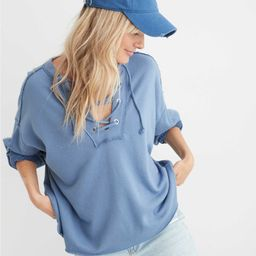 Aerie Sunday Soft Lace Up Sweatshirt   American Eagle Outfitters (US & CA)