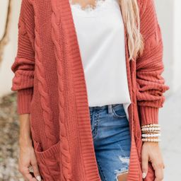 Won't Change My Heart Rust Cardigan   The Pink Lily Boutique