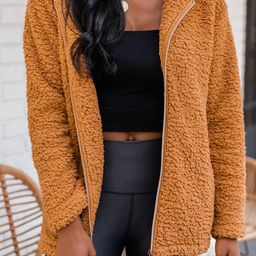 Forest Of Dreams Camel Sherpa Jacket   The Pink Lily Boutique