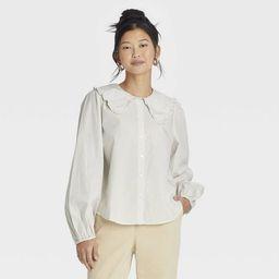 Women's Oversized Balloon Long Sleeve Button-Down Shirt - A New Day™ | Target