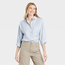 Women's Long Sleeve Button-Down Boyfriend Shirt - A New Day™ | Target