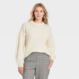 Women's Crewneck Textured Pullover Sweater - A New Day™ | Target