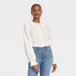 Women's Balloon Long Sleeve Button-Down Shirt - Universal Thread™ | Target