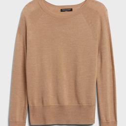 Seamless Merino Crew-Neck Sweater in Responsible Wool | Banana Republic (US)