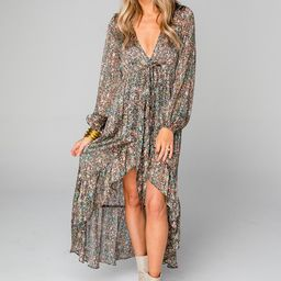 Aisha High-Low Chiffon Dress - Greenhouse | BuddyLove