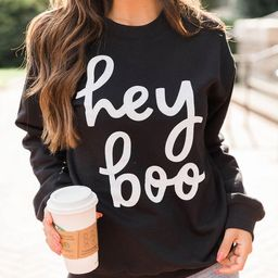 Hey Boo Black Graphic Sweatshirt | The Pink Lily Boutique