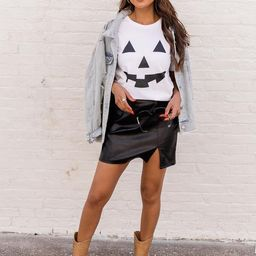 Jack O Lantern White Graphic Tee | The Pink Lily Boutique