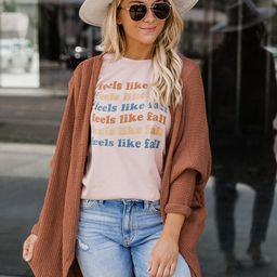 Feels Like Fall Peach Graphic Tee | The Pink Lily Boutique