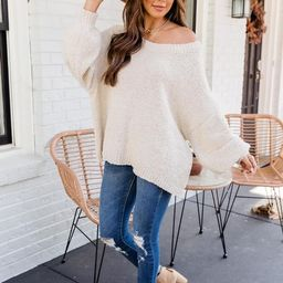 Good News Beige Sweater | The Pink Lily Boutique