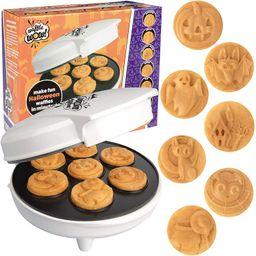 Halloween Mini Waffle Maker - 7 Different Spooky Designs - Make Breakfast Fun This Fall with Elec...   Walmart (US)