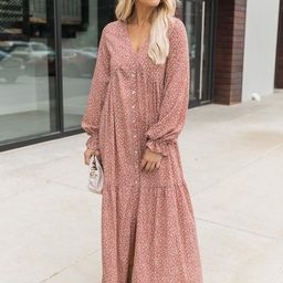 Changing My Mind Rose Floral Maxi Dress | The Pink Lily Boutique