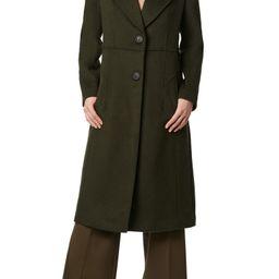 Solid Peaked Lapel Coat   Nordstrom