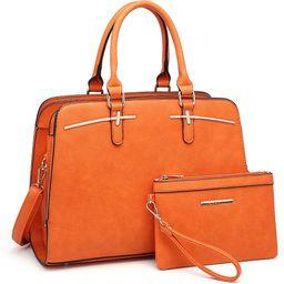 Dasein Women Satchel Handbags Shoulder Purses Totes Top Handle Work Bags with 3 Compartments   Amazon (US)