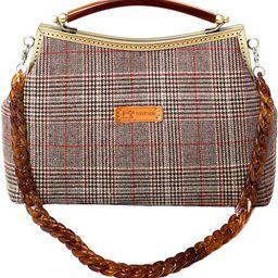 Rejolly Women Vintage Kiss Lock Top Handle Handbag Evening Purse Crossbody Shoulder Bag with Chain S   Amazon (US)