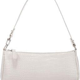 Shoulder Bags for Women, Retro Classic Tote HandBag Crocodile Pattern Clutch Purse with Zipper Closu | Amazon (US)
