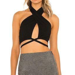 Mariella Halter Top in Black   Revolve Clothing (Global)