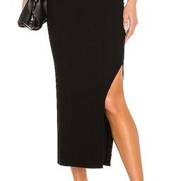 Silk Rib Pencil Skirt in Black   Revolve Clothing (Global)