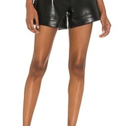 AGOLDE Recycled Leather Angled Hem Short in Detox from Revolve.com   Revolve Clothing (Global)
