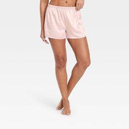 Women's Satin Pajama Shorts - Stars Above™ Soft Pink S   Target