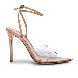 Leather & Plexi Stark Ankle Strap Sandals | FWRD