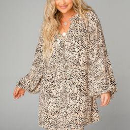Leah Button Up Short Dress - Sesame | BuddyLove