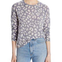 AQUA Cashmere                                                                Leopard Print Sweate... | Bloomingdale's (US)