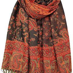 Achillea Soft Silky Reversible Paisley Pashmina Shawl Wrap Scarf w/Fringes   Amazon (US)