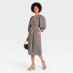Women's 3/4 Sleeve Wrap Dress - A New Day™ | Target