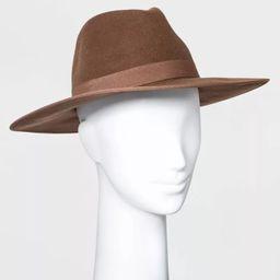 Women's Wide Brim Felt Fedora Hat - A New Day™   Target