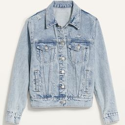 Classic Ripped Light-Wash Jean Jacket for Women   Old Navy (US)