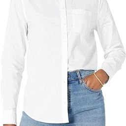 Amazon Essentials Women's Classic-Fit Long Sleeve Button Down Poplin Shirt   Amazon (US)