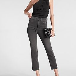 Super High Waisted Black Slim Jeans | Express