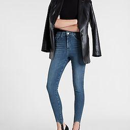 High Waisted Ultra Hyper Stretch Medium Wash Skinny Stirrup Jeans | Express