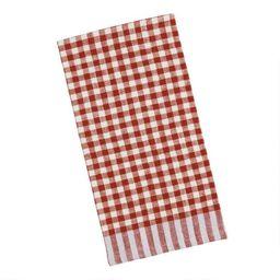 Checkered Cotton Kitchen Towel Set of 2 | World Market