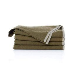 Chatwin Green Linen Hand Towel   Foundation Goods