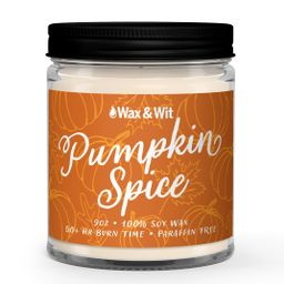 Wax & Wit Inc Pumpkin Spice Scented Candle - Fall Decor, Fall Holiday Candle - 9oz Soy Candle - W... | Walmart (US)