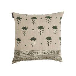 Pari Olive Block Print Pillow   Foundation Goods