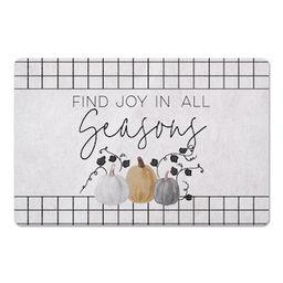 Joy In All Seasons Pumpkin Floor Mat | Michaels Stores