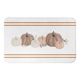 Fall Stripes & Pumpkins Bath Mat | Michaels Stores