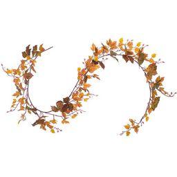 Coolmade Fall Maple Leaf Garland - 6.5ft/Piece Artificial Fall Foliage Garland Thanksgiving Decor... | Walmart (US)