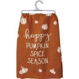 "Happy Pumpkin Spice Season Dish Towel - 28"" x 28"", Orange, White Pumpkins, Fall Home Decor, Kitch... | Walmart (US)"